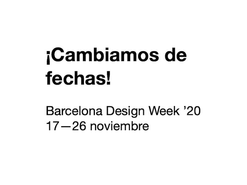 ¡Cambio de fechas! La BDW '20 se celebrará en noviembre | Barcelona centro de Diseño