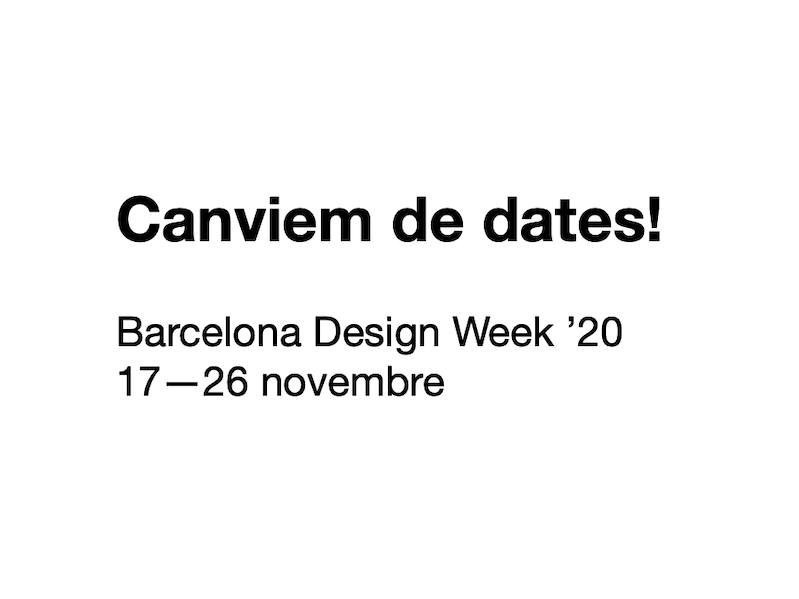 Canvi de dates! La BDW '20 se celebrarà al novembre | Barcelona centro de Diseño